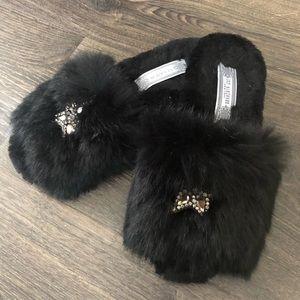 Ivy Kirzhner Genuine Fur & Leather Slides
